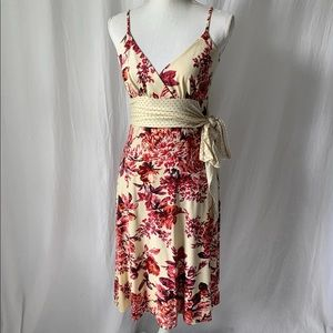 Antropologie Molly NY Wrap Front Floral Dress